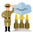 north korea missile system flat style vector image vector image
