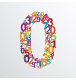 number zero from numbers vector image