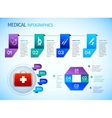 Origami infographics medical template vector image