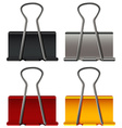 Paper clip in four colors vector image vector image