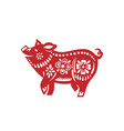 pig for happy chinese new year celebration vector image vector image