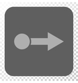 Pull Right Rounded Square Button vector image