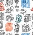 seamless pattern home appliances vector image vector image