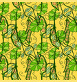 seamless pattern of abstract sweet peas vector image