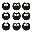 set icons owls vector image