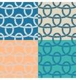 Set of 4 marine rope loop seamless pattern vector image
