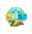 Set of clothes in flat style vector image