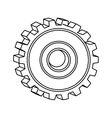 silhouette of gear wheel icon vector image vector image
