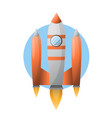 spaceship in circle flying vector image vector image
