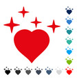 sparkle love heart icon vector image vector image