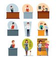 staff set of different modern sellers vector image