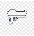 start gun concept linear icon isolated on vector image