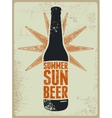 Summer Sun Beer Retro grunge beer poster vector image