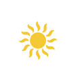 sun icon - simple element vector image vector image