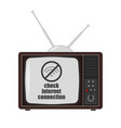 tv icon on a white background in flat style vector image vector image