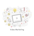 Video Marketing Approaches Measures and Methods vector image vector image