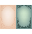 Vintage background with rich baroque decoration vector image vector image