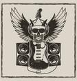 vintage rock star grunge vector image vector image