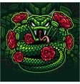 viper snake mascot logo design vector image vector image