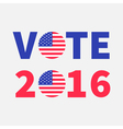 vote 2016 red blue text badge button icon vector image vector image