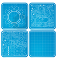 Blueprints vector image