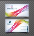 modern business card design template vector image