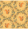 squirrels pattern vector image