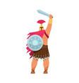 ares greek god war cartoon male character vector image vector image