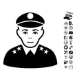 Army General Icon With Air Drone Tools Bonus vector image