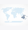 australia continent on the world map vector image vector image