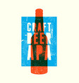 beer apa typography vintage style grunge poster vector image vector image