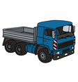 Blue lorry truck vector image vector image
