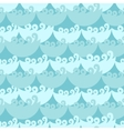 Blue water curly waves seamless pattern vector image vector image