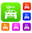 car and key set collection vector image vector image
