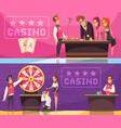 casino horizontal banners set vector image vector image