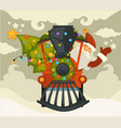 christmas holiday preparation santa claus vector image vector image