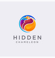 colorful modern chameleon logo icon template vector image vector image