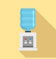 cooling water office icon flat style vector image