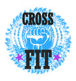 cross fit and sports design vector image