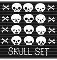cute emotion skull set for Halloween design vector image