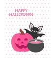 cute happy halloween poster vector image vector image