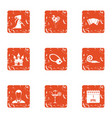 destiny icons set grunge style vector image vector image
