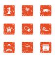 destiny icons set grunge style vector image