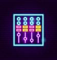 dj mixer neon sign vector image vector image