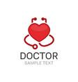 doctor logo vector image