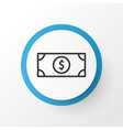 dollar banknote icon symbol premium quality vector image vector image