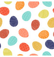 easter eggs - seamless pattern colorful vector image vector image