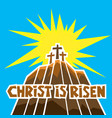 easter three crosses on calvary vector image