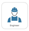 engineer icon man in hard hat buider symbol vector image