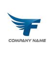 f wings logo vector image